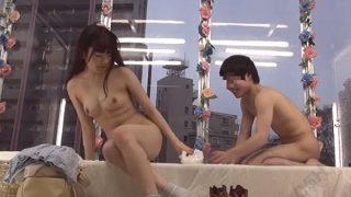 【マジックミラー号】「精子出た…ヤバいんだけどぉ…笑」サユミちゃんのオマ○コが気持ち良すぎて中出ししてしまった大学生!(大澤美咲)