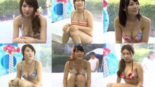 【マジックミラー号】ビキニ美女6人がカレ以外の生チ○ポを挿入される!<企画/素人/中出し>