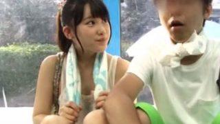【マジックミラー号】激カワ女子大生が他人棒をハメられ中出しまでされる!(宮崎あや)