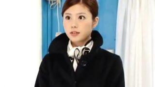 【マジックミラー号】制服のまま着衣SEX!難攻不落な高嶺の花のCAが完落ち!(相沢恋)