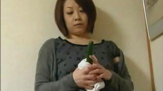 【ヘンリー塚本】キュウリをしゃぶりながら自分のアソコを慰めている母!