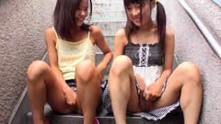 【合法ロリ】葛飾共同区営団地で晒される少女たちの未発達のパイパンオマ○コ!