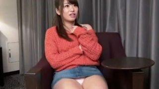 【初美沙希】デニムのミニスカがエロいパイパン巨乳娘とホテルで生ハメセックス!(初美沙希)
