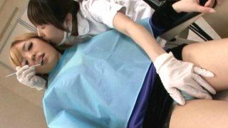 〔企画〕歯医者に来た生理前の女の子がレズビアンの歯科医にイタズラされて…!