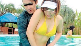 〔企画〕人で賑わうプールでビキニ姿の美人プール監視員のビキニをはぎ取り大胆に犯す!