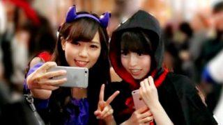 ハロウィンの聖地・渋谷で美少女2人組をGETしてレズ行為をしてもらった!【企画】