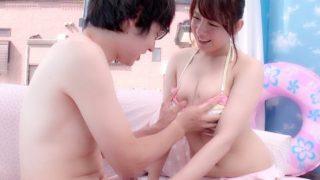 〔MM号〕海でナンパした爆乳エステティシャンに童貞くんの筆おろしをお願いした!