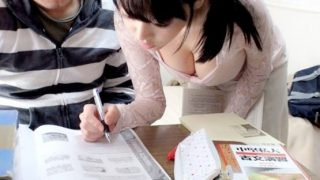 〔浜崎真緒〕家庭教師の巨乳オッパイが気になっちゃって勉強どころじゃない受験生!