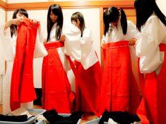 女○校生が課外授業でやって来た神社で巫女の格好でエッチな修行開始!〔企画〕