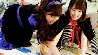 〔素人〕Halloweenの渋谷で捕まえた女の子たちが酔った勢いで初レズにチャレンジ!