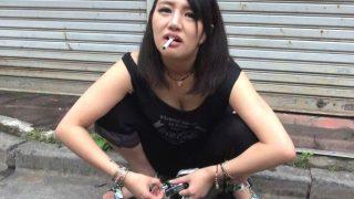 新宿で見つけたDQN娘を捕獲して巨大チ○ポとご対面させたみた!〔企画〕