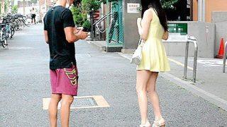 〔企画〕都内某所にてスカートから覗くおみ足が魅力的な女子をナンパ!〔なつめ愛莉・紺野ひかる〕