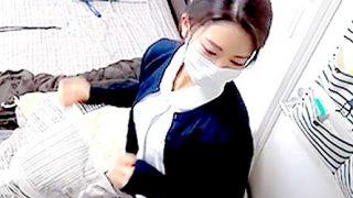 現役看護師えりこ23歳!仕事着を持参させてエッチを生配信!【パコキャス】