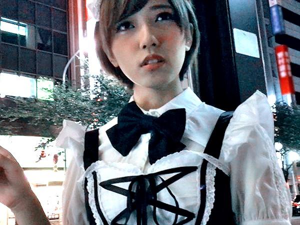 メイドコスのデカパイ娘をナンパ即SEX‼★★藤川れいな(ふじかわれいな)★★