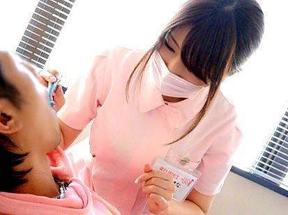 デカパイ歯科衛生士とランチタイムSEX‼★★濱口えな(はまぐちえな)★★