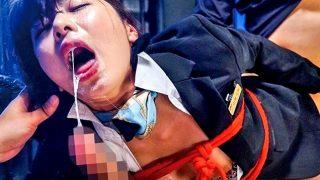 〔由愛可奈〕イラマで喉奥を徹底的に凌辱される美人キャビンアテンダント!