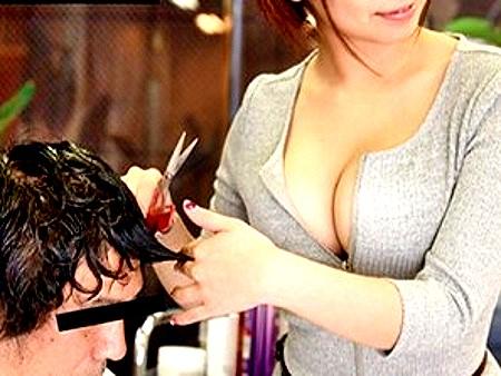 ☆痴女☆美容師のデカパイを間近で楽しめる超極楽ヘアサロン!!★★吉澤友貴(よしざわゆき)/女優★★