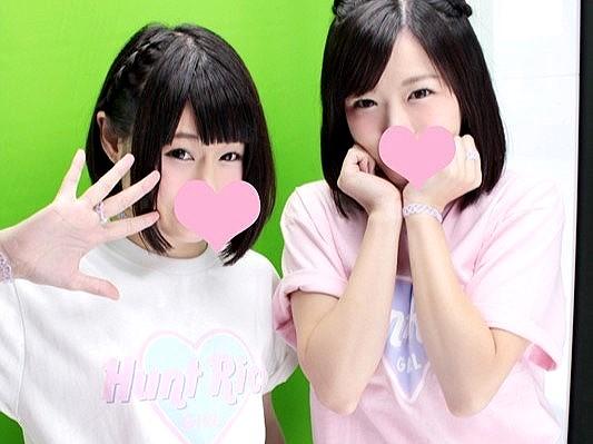 アイドル級に可愛い援交JKコンビと生中出し逆3P‼★★森保さな・明海こう★★