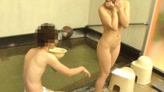 〔盗撮〕互いに彼氏彼女がいる男女が露天風呂に裸で2人きりの過激ミッション❗