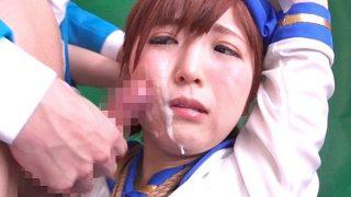 〔佐倉絆〕コスプレ娘の可愛いお顔にザーメンぶっかけ♥緊縛拘束されてイラマチオからの顔射❗