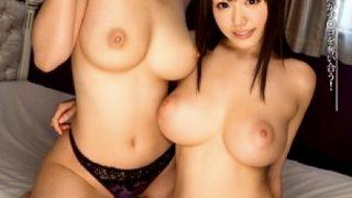 〔痴女〕逆3PハーレムSEX‼2つの極上マ○コでご奉仕❗巨乳美女達がシンクロして上下左右から責め立てる♥