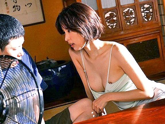 ◆無料動画◇汗ダクのノーブラ美奥サマの誘惑にフル勃起★☆